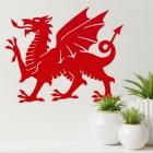 Welsh Dragon Wall Art on a Cream Wall