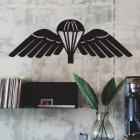 Black 'Parachute Wings' Badge Wall Art