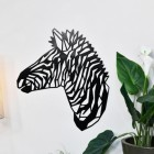 Zebra in Geometric Form mounted to wall