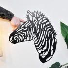 Geometric Zebra Wall Art Mounted to Living Room Wall
