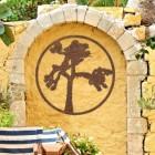 Joshua Tree Wall Art in Situ Outdoors on a Yellow Wall