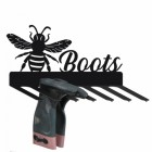 Wall Mounted Bumble Bee Iron Boot Holder Finished in Black