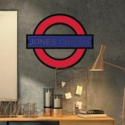 'The Underground' Personalised Wall Art in Situ in the Living Area