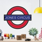 'The Underground' Personalised Wall Art with the Text 'Jones Circus'