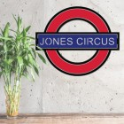 'The Underground' Personalised Wall Art Next to a Plant