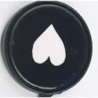 Upside-down Black Heart Print Iron hook