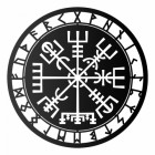 """Vegvisir"" Viking Compass Wall Art in Black"