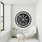 """Vegvisir"" Viking Compass Wall Art in a Modern Sitting Room"