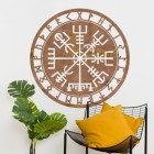 """Vegvisir"" Viking Compass Wall Art in Situ in the Home"