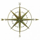 Compass Wall Art in a Verdigris Finish