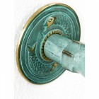 Verdigris Finish Turtle Garden Tap