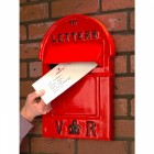 Victorian Style Pillar Box Front in red