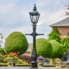 Miniature Victorian Lamp Post in Situ in the Garden