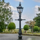 Miniature Victorian Lamp Post in a Black Finish