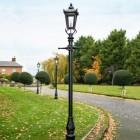 Black Victorian driveway lighting