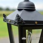 Decorative Wings on the Lid of the Lantern
