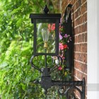 Victorian Wall Lantern With Curved Top