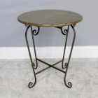 Round Scrolled Side Table created From Metal