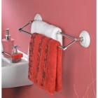The Heritage Porcelain White and Chrome Double Towel Rail