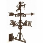 "Rustic ""Churub"" Weathervane Mounted on the Universal Bracket Horizontally"
