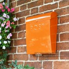 Wall Mounted Orange Letter Box Suitable For A4 Letters