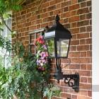 Westwell Black Simplistic Victorian Wall Light Installed On Brick Wall