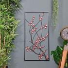 Wintersweet Floral Metal Wall Art at Display at Home