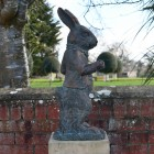 The Rabbit Sculpture Finished in an Antique Bronze