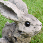 Close-up of the Wood Effect on the Rabbit Sculpture
