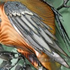 Hand Made Metal Wings on the Owl