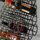 12 Bottle Black Wall Wine Rack