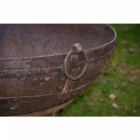 Close-up of the Round Handles on the Side of the Kadai Bowl