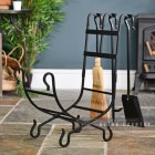 Wrought Iron Log Holder in Situ by the Fire