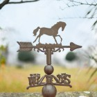 Rustic Horse Weathervane Topper