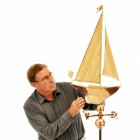 Copper Weathervane Sail Boat Version2