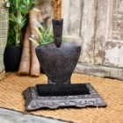 Rustic Garden spade boot brush and scraper