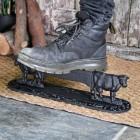 Cow Boot Scraper in use