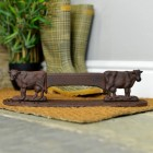 """""""Digby's Dairy"""" Boot Scraper Created with Cast Iron"""