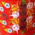 Close-up of the Red Floral Design