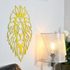 Geometric Lion Steel Wall Art in Situ by a Light
