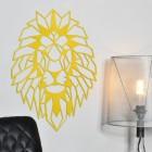 Geometric Lion Steel Wall Art in a Modern Sitting Room