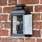 """Front Opening door on the Traditional """"York"""" Aged Copper Wall Lantern"""