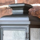"""Traditional Design on the """"York"""" Aged Copper Wall Lantern"""