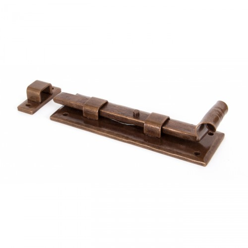 """Danbury Place"" Straight Door Bolt 6"" Bronze"