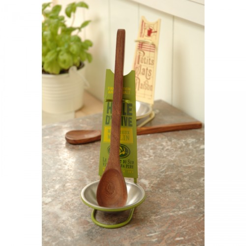 Spoon Rest and Wooden Spoon - Huile D'Olive