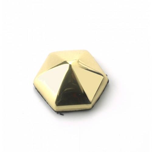 solid brass 20mm hexagonal stud motif