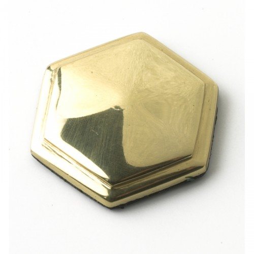 solid polished brass hexagonal motif