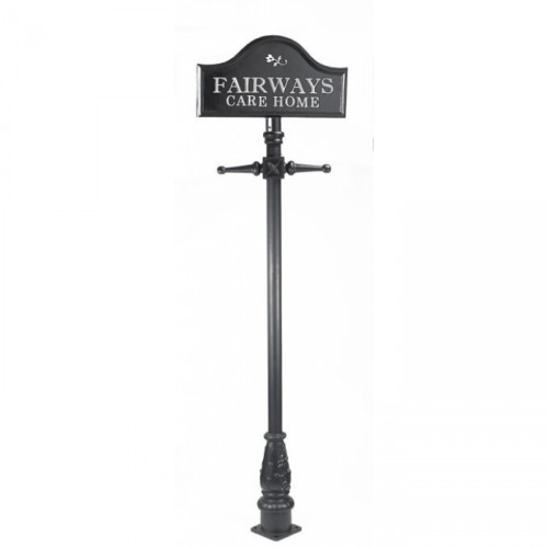 Tall Lamp Post Sign