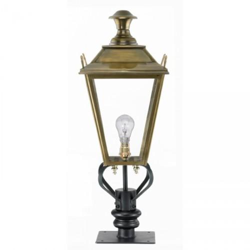 Brass Dorchester Pillar Light and Lantern Set 71cm