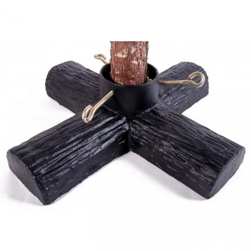 Black Log Design Christmas Tree Holder